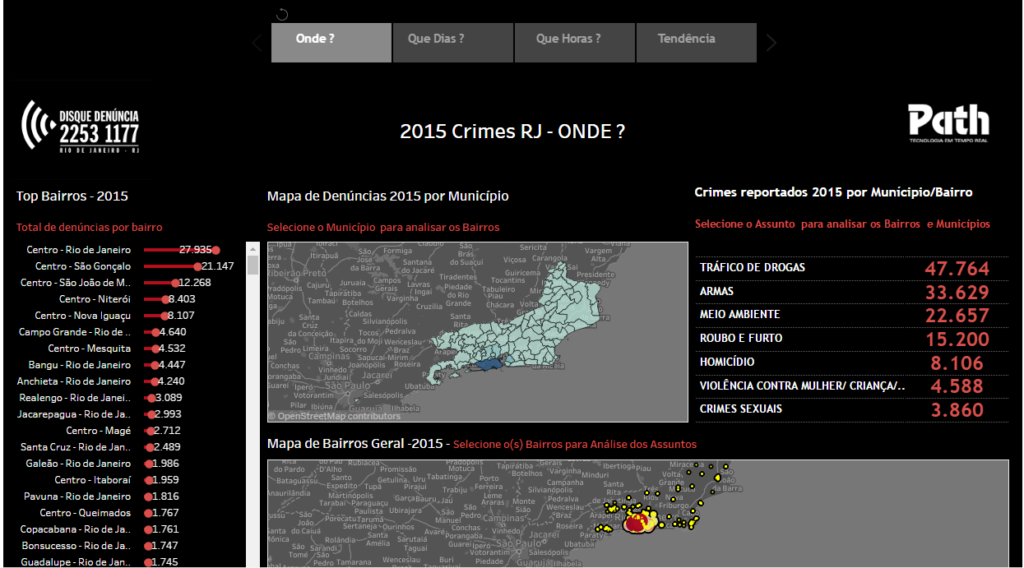MAPA DE CRIMES – DISQUE DENUNCIA RJ